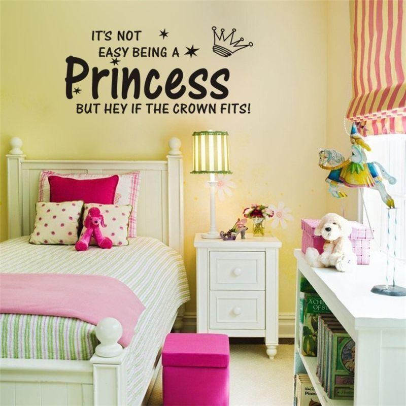 $1.89 - Princess Girls Bedroom Decor Art Vinyl Diy Wall Stickers ...