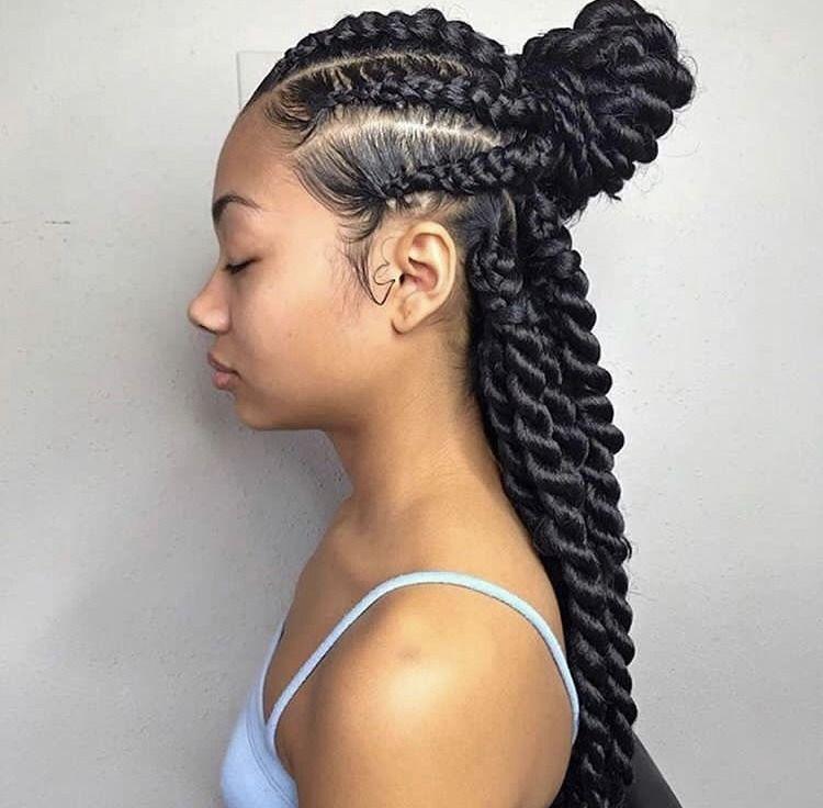 Pin By Schmyra Green On Hair Natural Hair Styles Hair Styles Braided Hairstyles