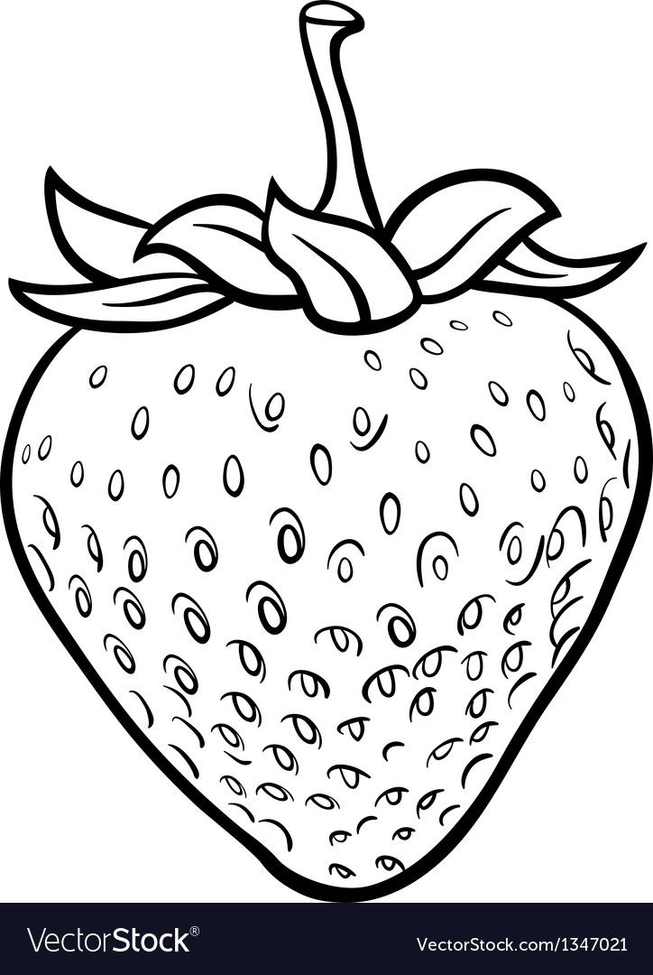 Black And White Cartoon Illustration Of Strawberry Fruit Food Object For Coloring Book Download A Free Fruit Coloring Pages Strawberry Drawing Coloring Books