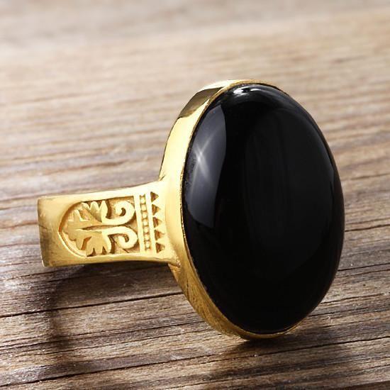 Artdeco Men S Ring In 10k Yellow Gold With Black Onyx Natural Stone Ring For Men Rings For Men Purple Stone Rings Stone Rings For Men