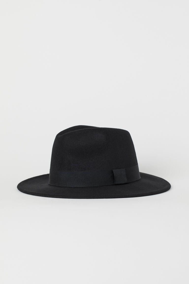 12546dcd8c77d Sombrero de fieltro - Negro - MUJER