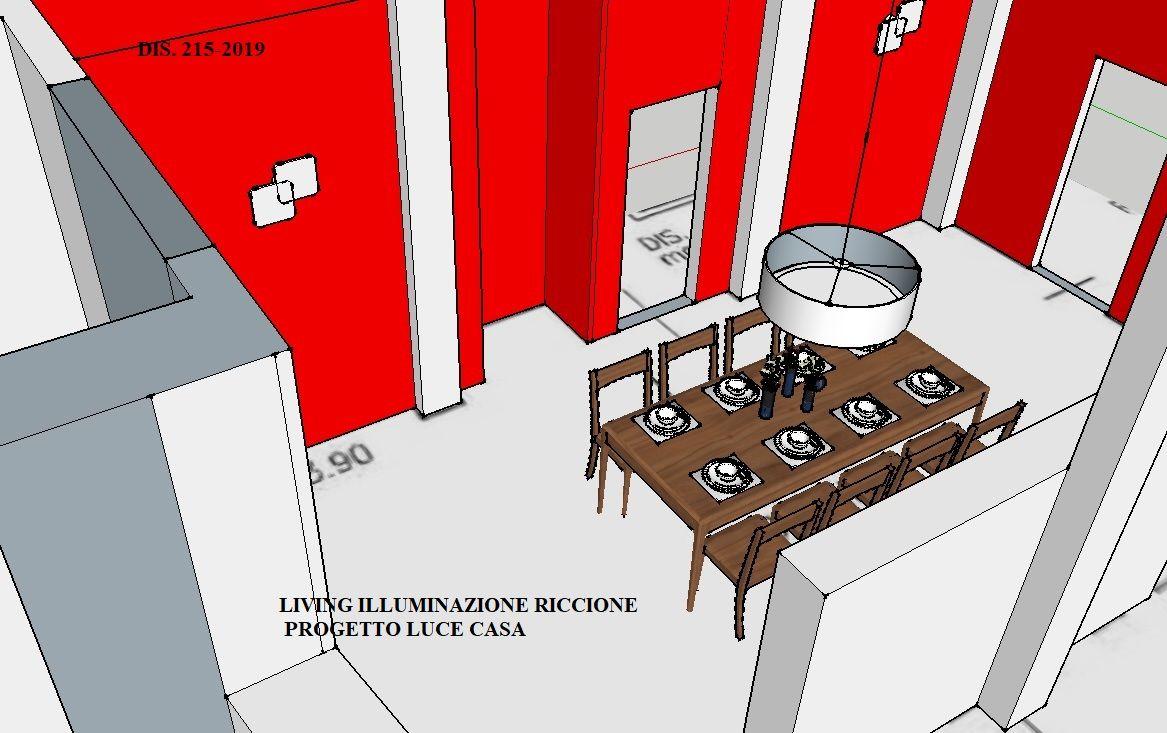 Presentazione del progetto casa per lampada paralume su tavolo
