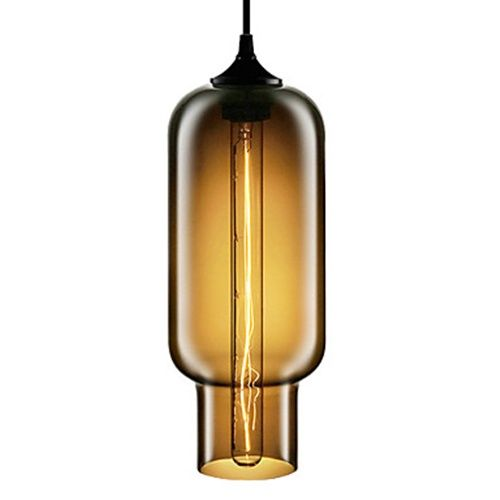 70W Modern Glass Pendant Light in Brown Bubble Design – LightSuperDeal.com