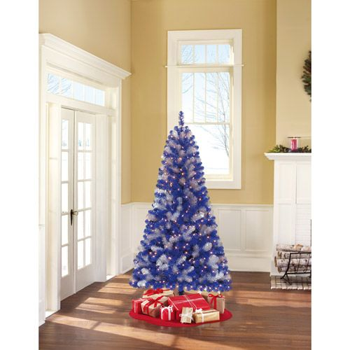 Holiday Time Prelit 6' Artificial Christmas Tree Bluesilver