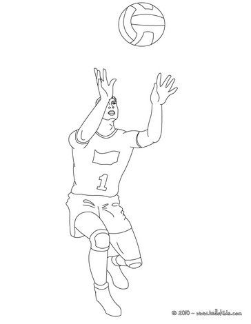 Beautiful Volleyball Reception Coloring Page For Kids Of All Ages More Sports Pages On Hellokids