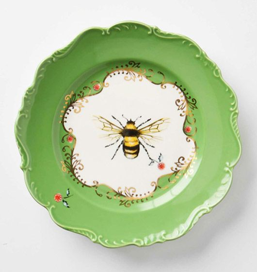 beautiful bee plates from Anthropologie...I will be getting this tomorrow at the & fab friday | Bees Beehive and Anthropologie