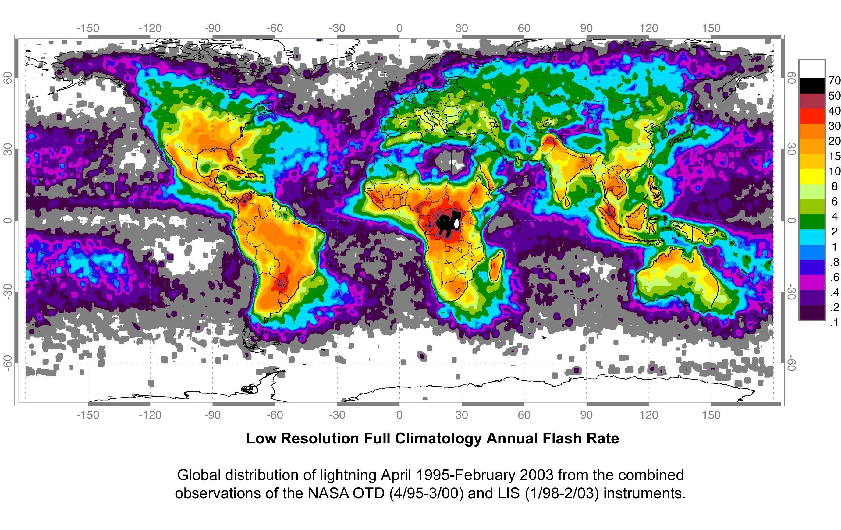 Global Lightning Strike Map World mappery maps Pinterest
