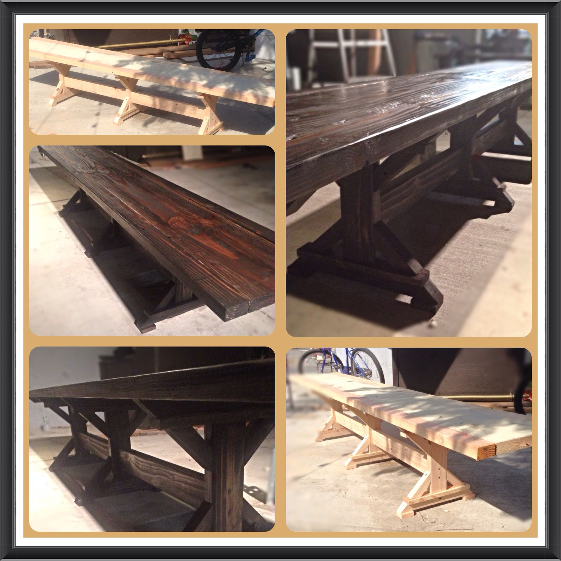 My DIY version of the shantychic farmhouse style bench