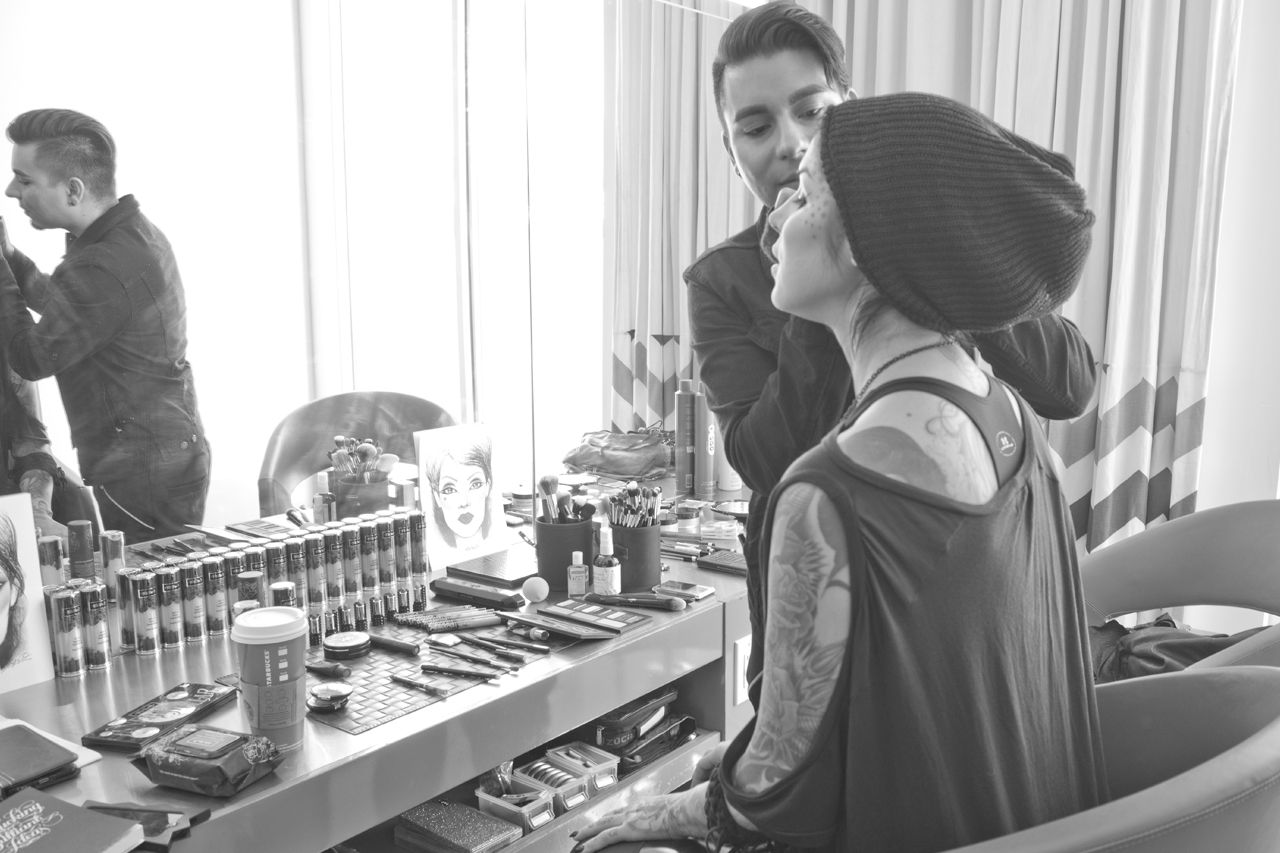 Shooting Behind the scenes at Sephora with Kat Von D.