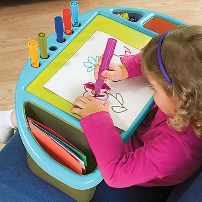 Kids Portable Lap Desk Tray Art For Anywhere Arts Crafts Perfect
