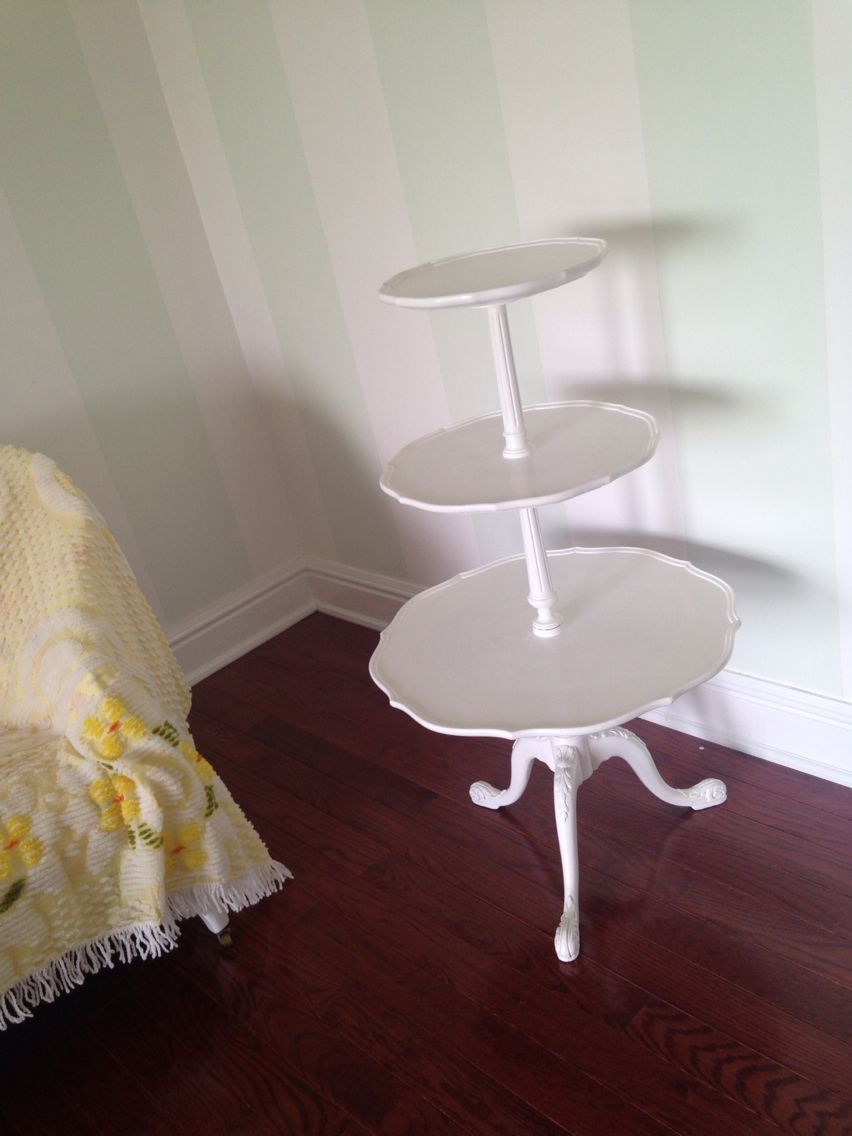 vintage pie crust table redo upcycled white after bedroom in rh pinterest com