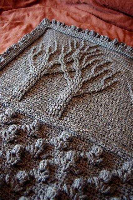 Árbol de la vida afgana (crochet) patrón por Lion Brand Yarn www ...