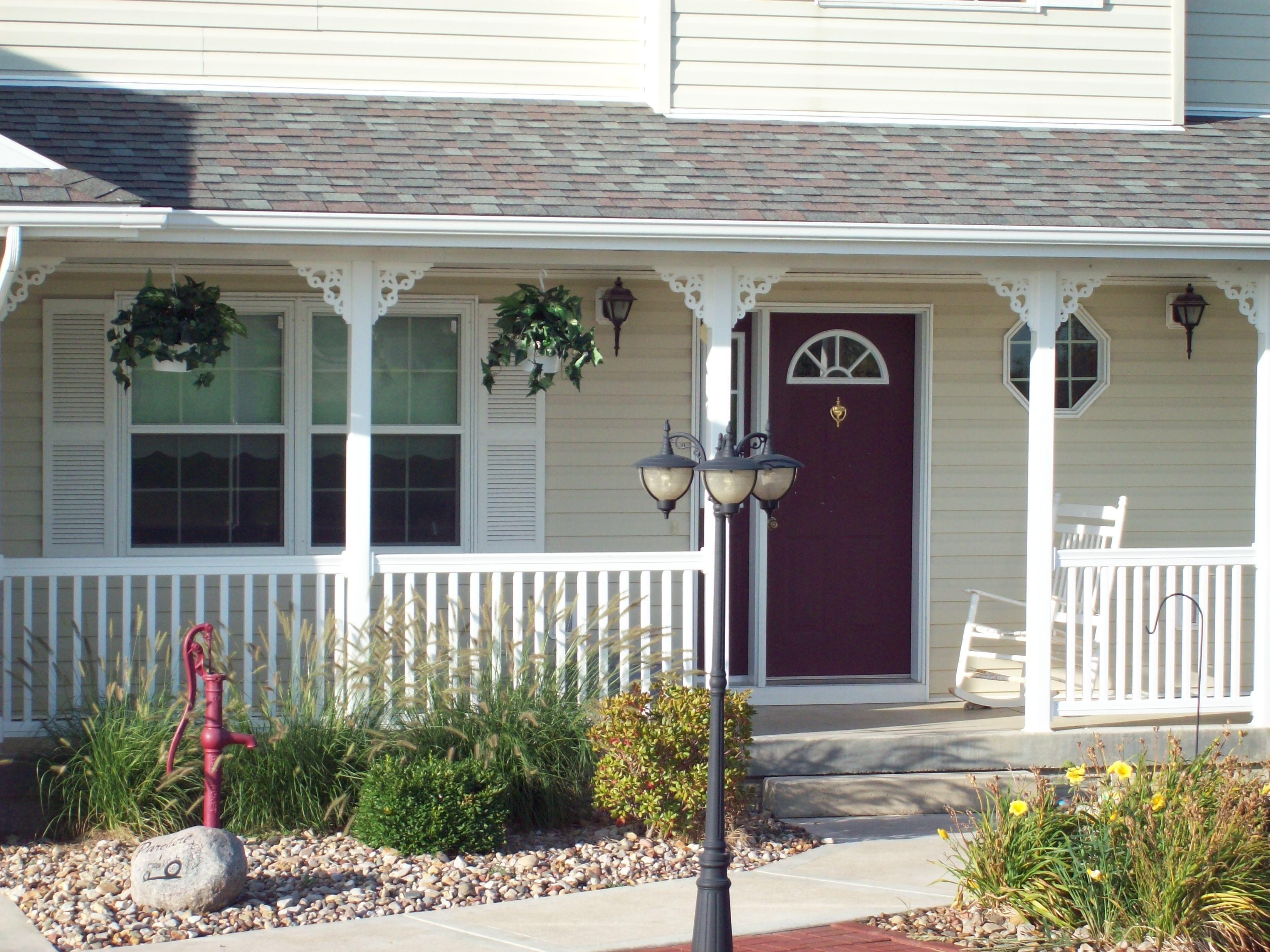 design ideas home brackets vinyl porch railing