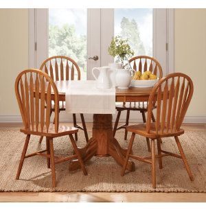 I Like This Set Solid Oak Under 400 For The Home Dinning