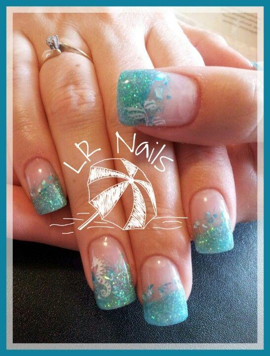 Tropical vacation nails \u2026