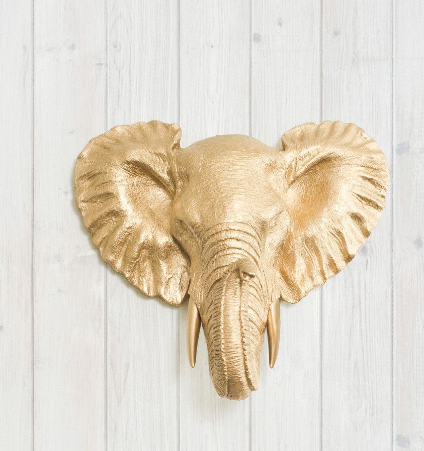 Savannah Faux Taxidermy Mini Elephant Head Wall Décor | Products ...