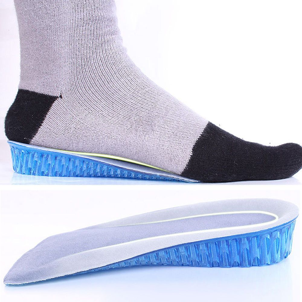 1 Pair Honeycomb Gel Heel Lifts Height Increase Insoles Shoe Inserts Pads Raise