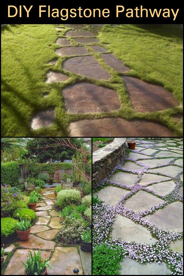 Build Your Own Backyard Flagstone Pathway Wege Pinterest