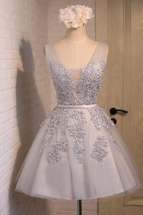 Real Picture,Prom Dresses,Short Prom Dress,Bridesmaid Dresses,Tulle,V-neck,Evening Dresses,Women…