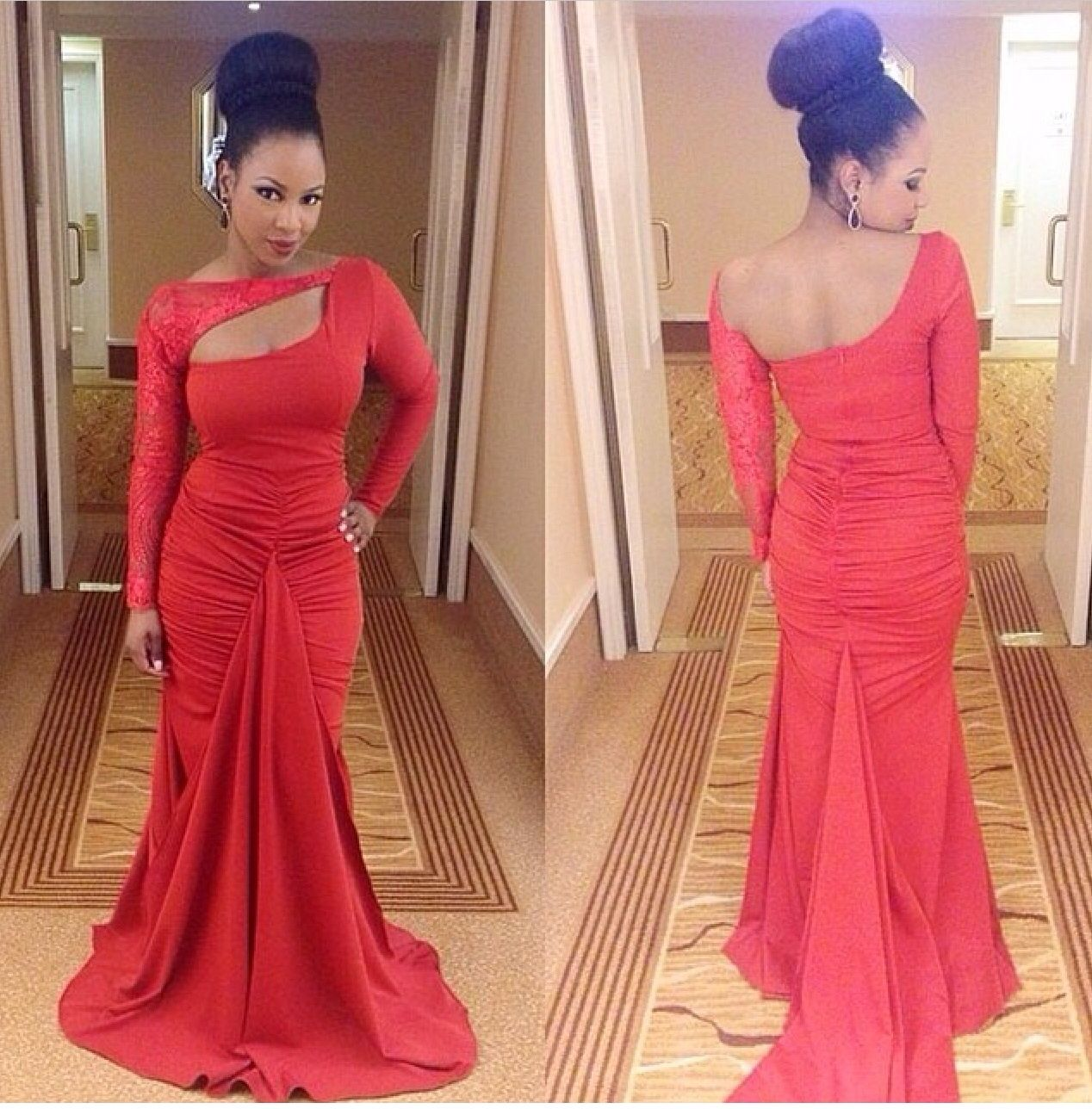African wedding dresses for guests  Pin by haja trye on haja  Pinterest  Plush Red gowns and Drop