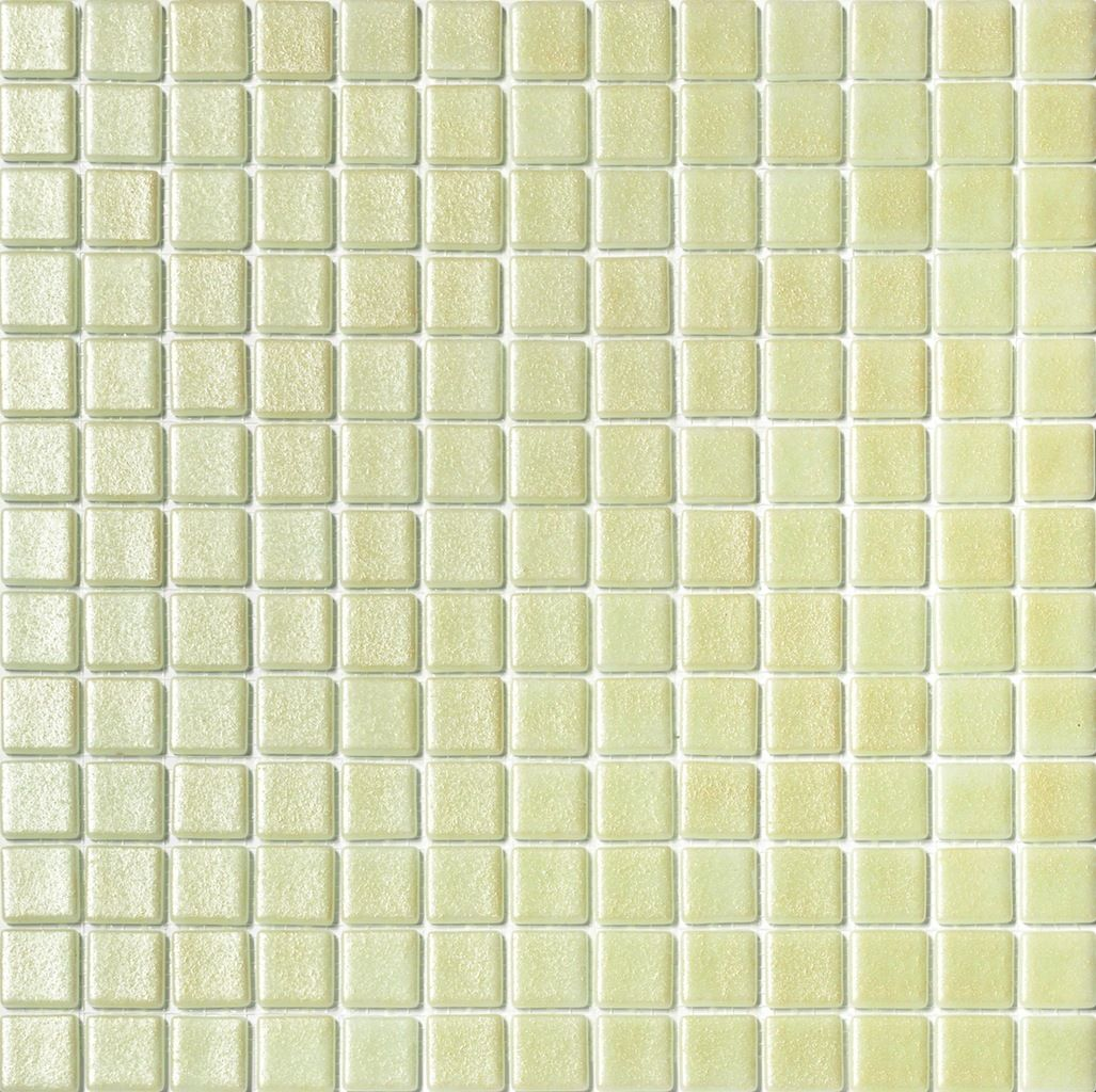 Mineral Tiles - Recycled Glass Mosaic Tile Metallic Cream, $11.00 ...