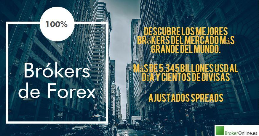 infografía que reza: los 10 mejores brókers forex