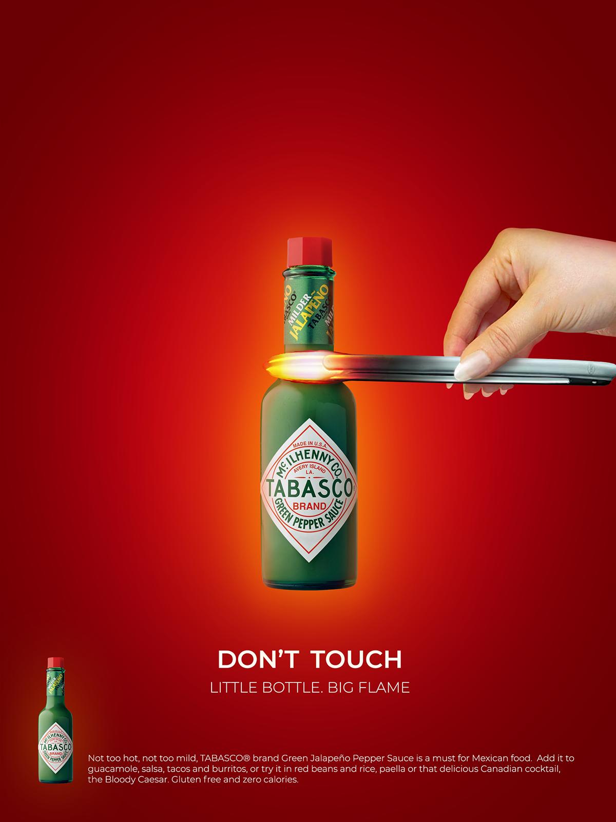 Tabasco Print Ads On Behance Ads Creative Graphic Design Ads Creative Advertising Design