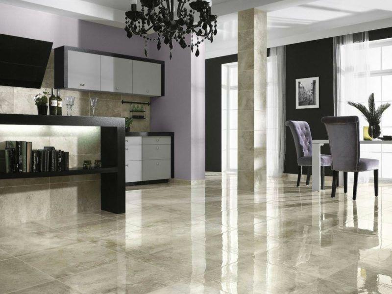 Marmorboden - alle Vor- und Nachteile | Fliesen wohnzimmer ...