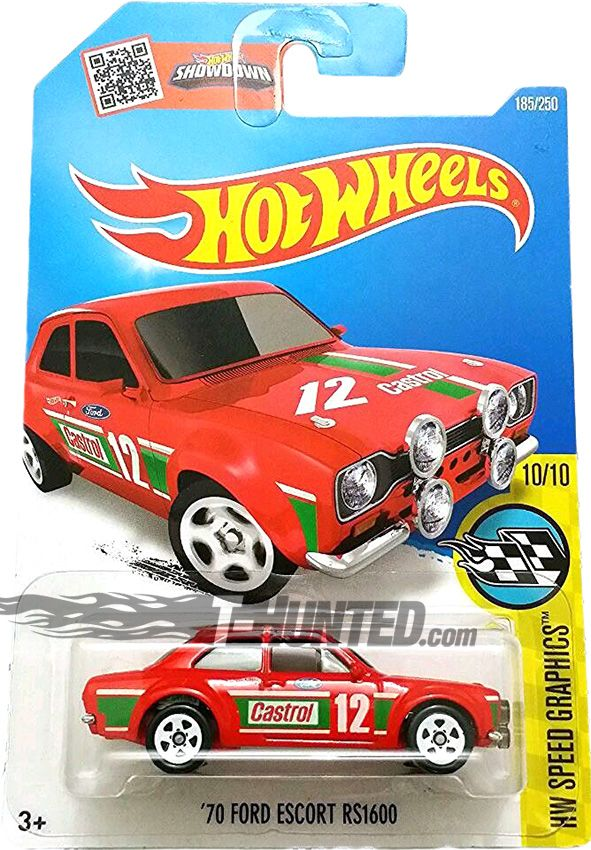 Hot Wheels Speed Graphics 70 Ford Escort Rs1600 Diecast Model Cars