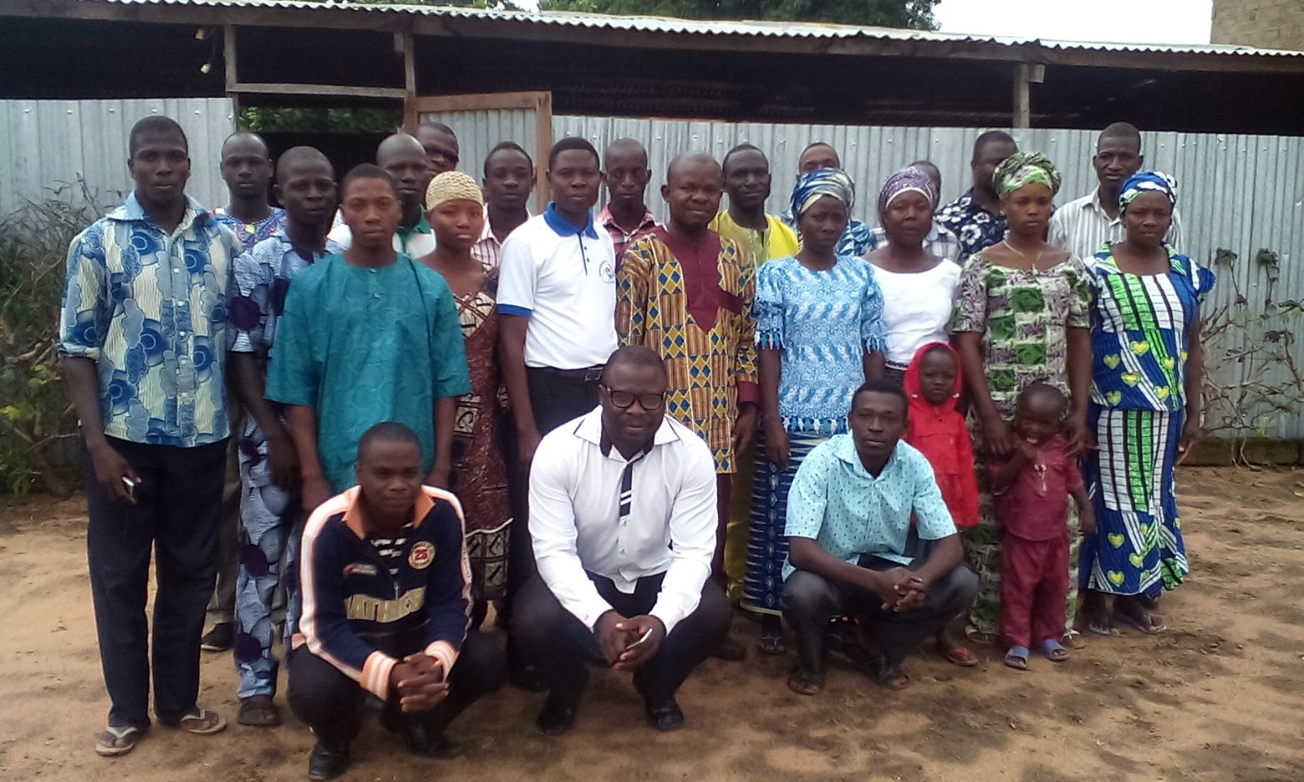 Wonderful family at Mission Évangélique de La Rédemption des Âmes, Parakou, République du Benin