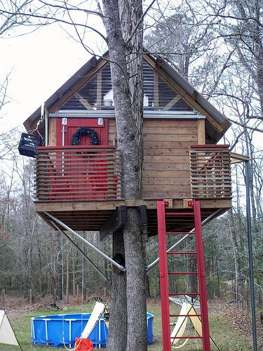 Sky Barn Dream Treehouse Tree House Traditional Exterior Building Concept