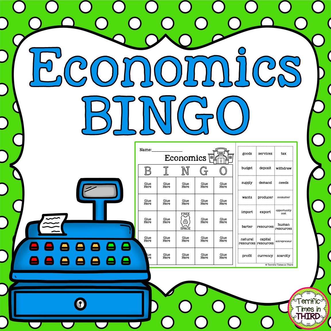 Economics Bingo In