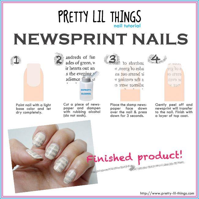 Resultado De Imagen Para Newspaper Nails