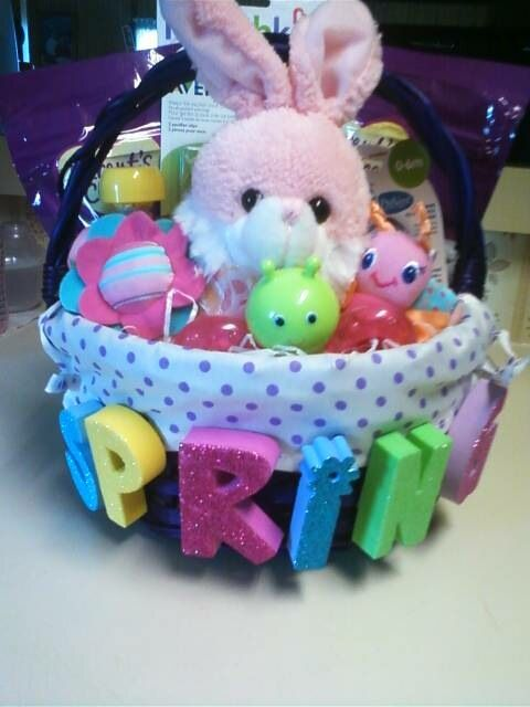 Homemade easter basket i made for my daughter she was 8 months old homemade easter basket i made for my daughter she was 8 months old at the time negle Images