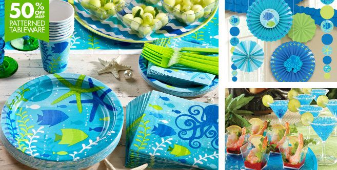 Will Be Using The Cool Sea Party Supplies From Party City With