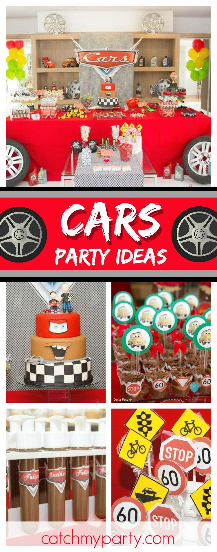 Cars Disney Birthday Cars Party In A Double Celebration The