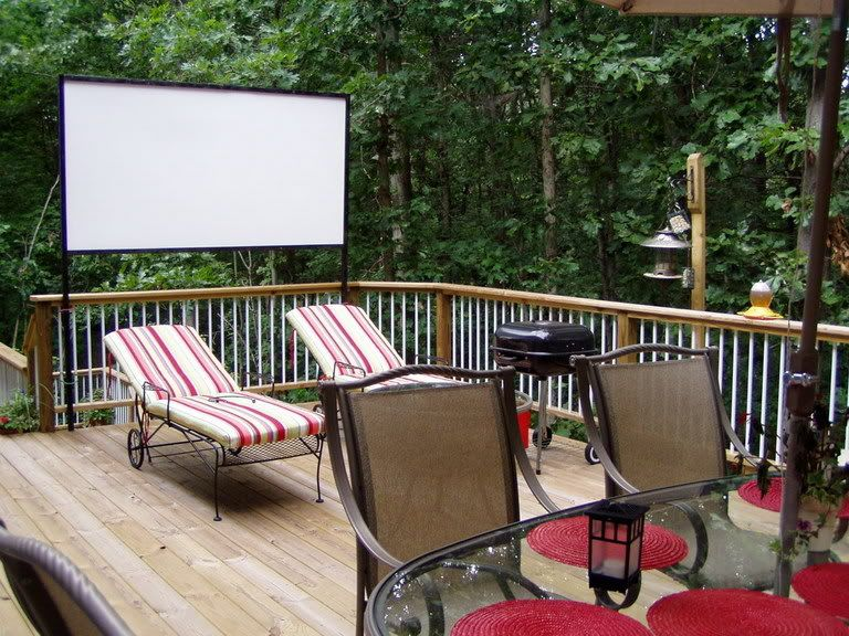 Iu0027d Love To Have One Of These Screens For Our Patio! Outdoor Movie  NightsHome TheatersThe ...