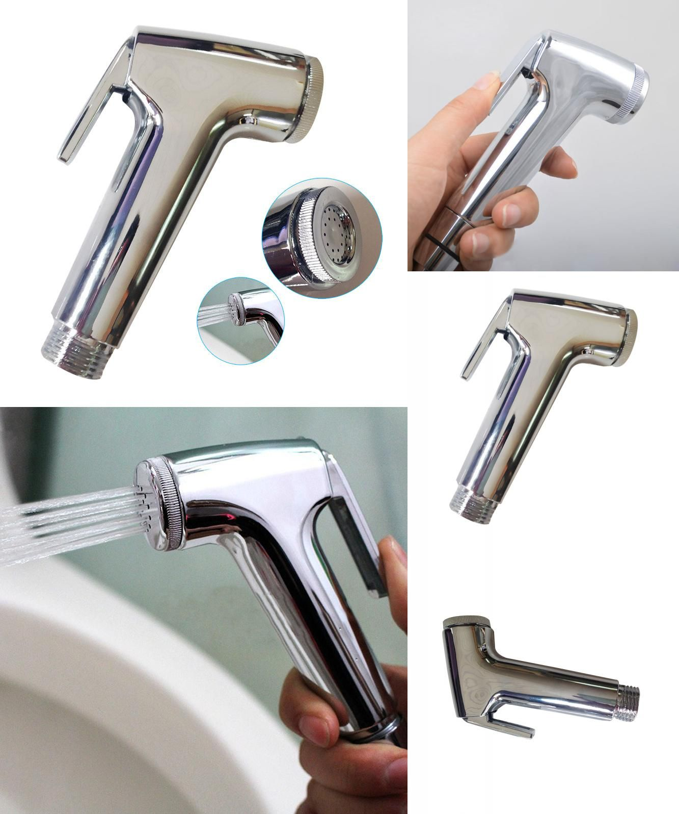 [Visit to Buy] ABS Handheld Toilet Bathroom Bidet Sprayer