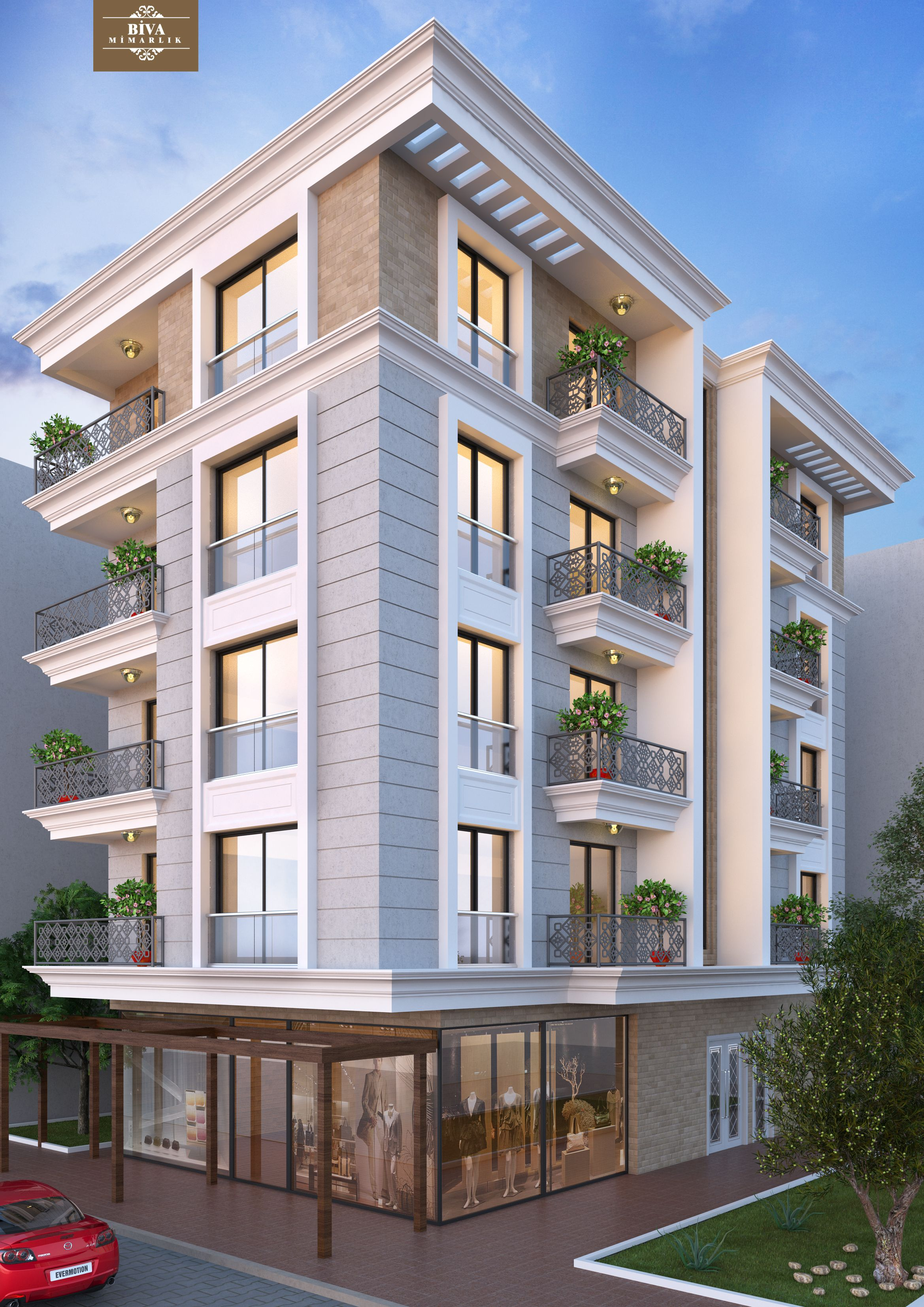 Architectural Design Of Residential Building Cephe Tasarimi Facades Architecture Building Facade Building