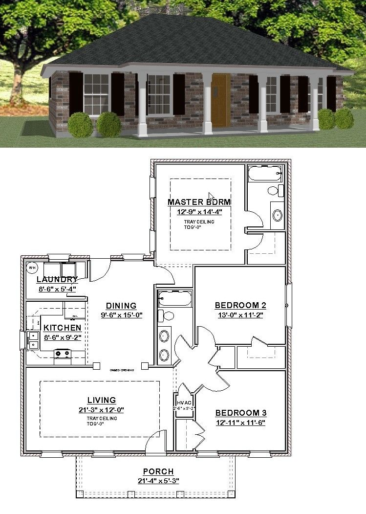 Custom House Home Building Plans 3 Bed Ranch 1404 Sf Pdf File Ebay House Blueprints Building Plans House Building Plans