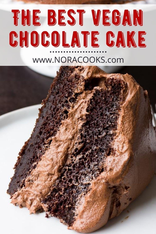 The Best Vegan Chocolate Cake Nora Cooks In 2020 Vegan Chocolate Cake Dairy Free Chocolate Cake Best Vegan Chocolate