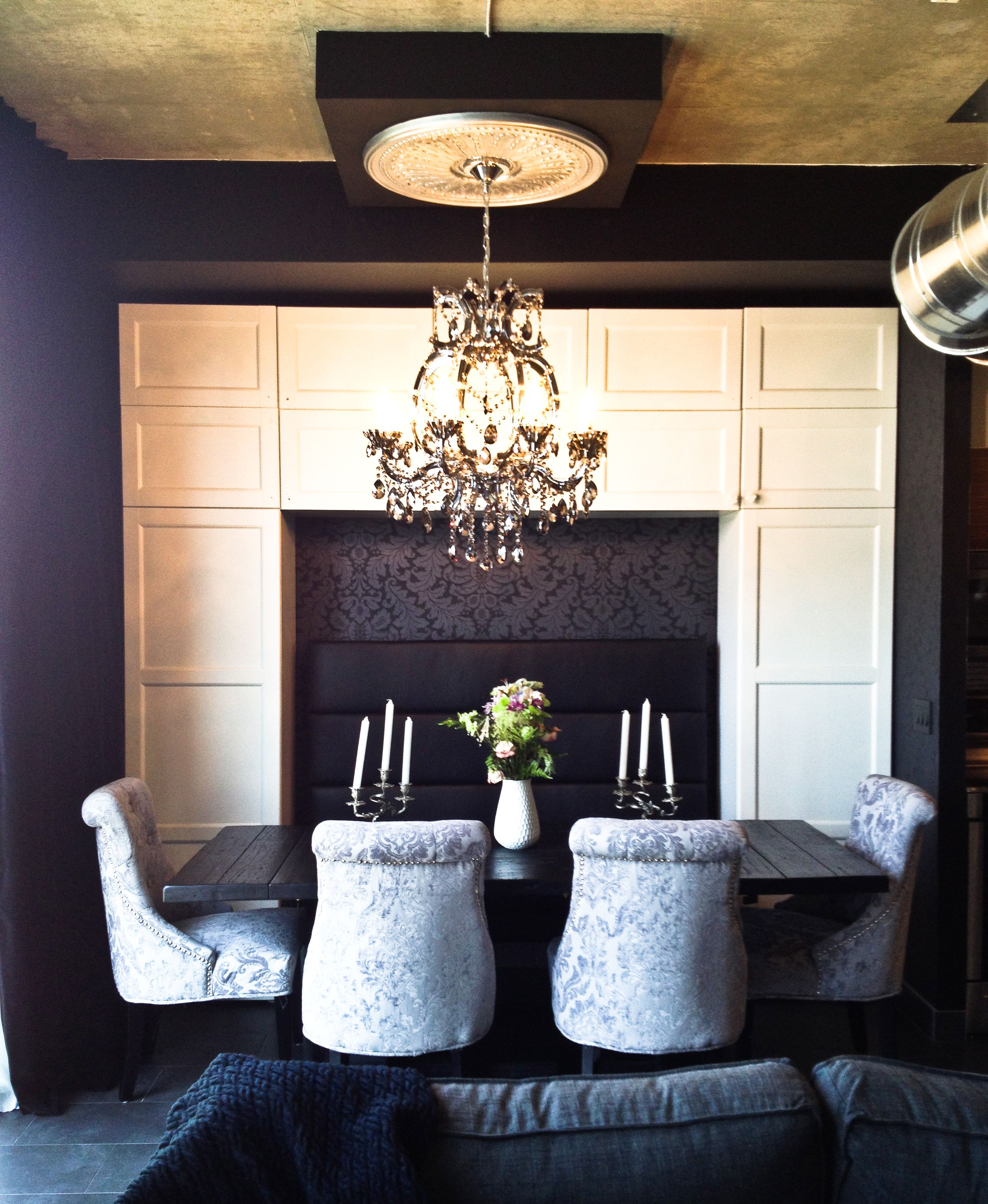 #Interior #Design #Wallpaper #Gothic #Black #Luxe #Glam #Decor