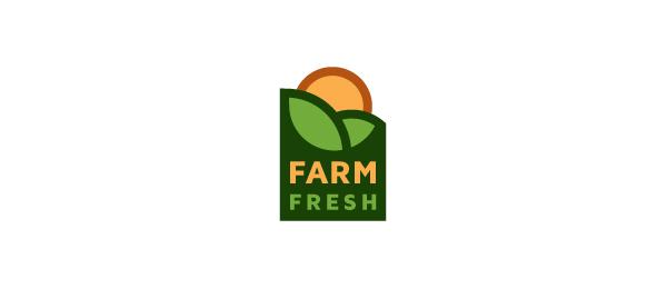 design farm fresh sun logo 32 | 农产品logo | Farm logo