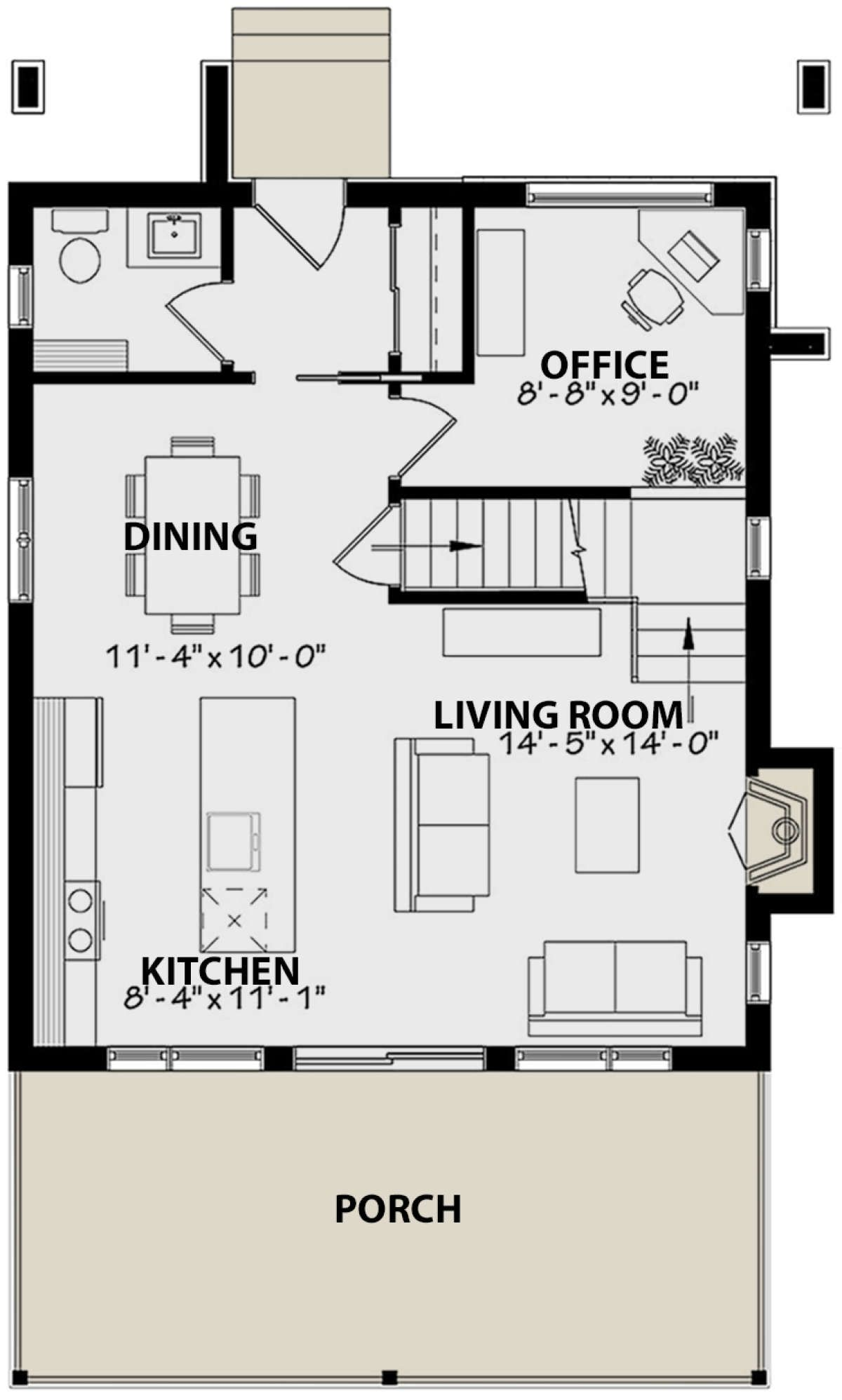 House Plan 034 01151 Contemporary Plan 1 344 Square Feet 2 Bedrooms 1 5 Bathrooms In 2021 Narrow Lot House Plans House Plans How To Plan