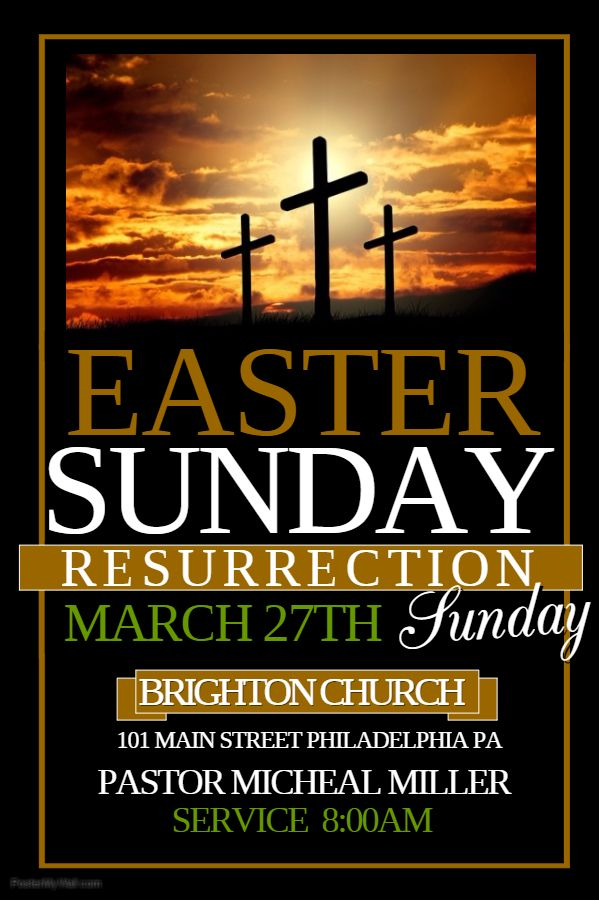 easter sunday flyer click on the image to customize on postermywall church event flyer. Black Bedroom Furniture Sets. Home Design Ideas