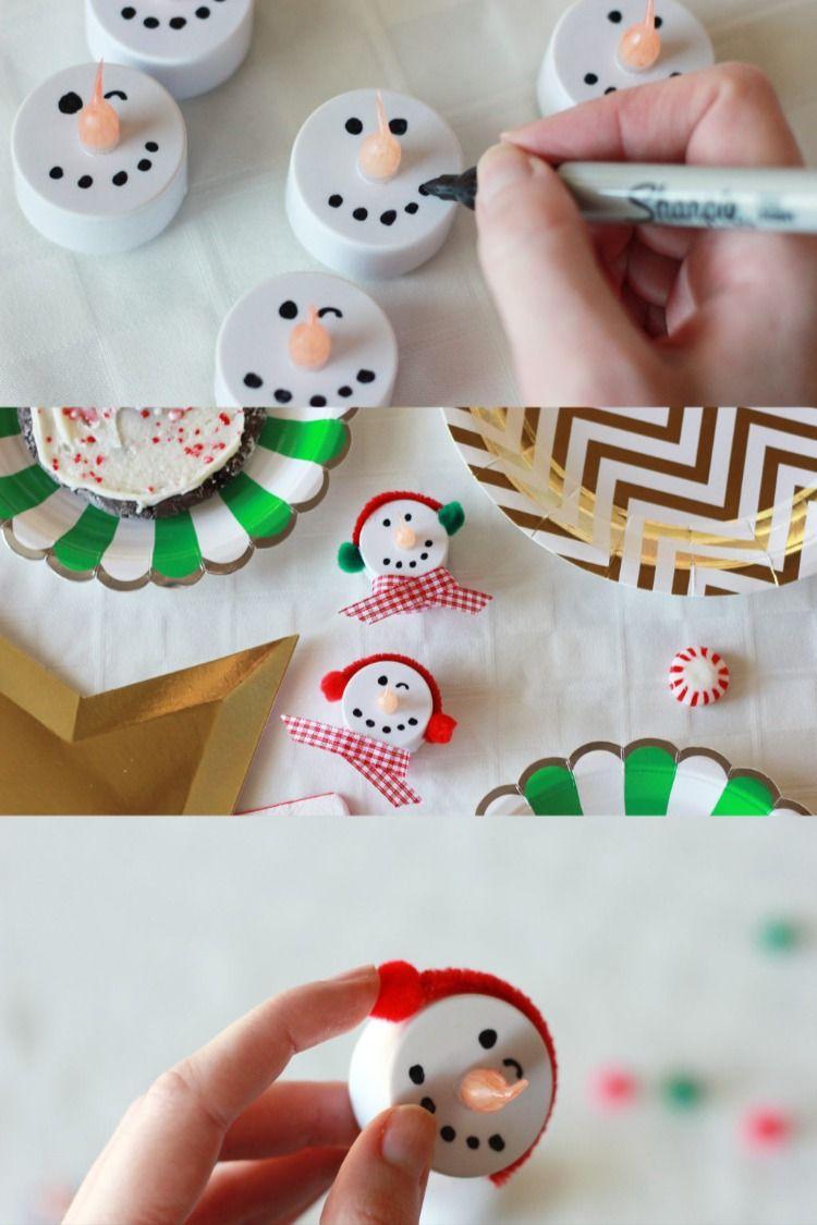 Diy Snowman Tealight Christmas Ornament Tutorial Ornament Tutorial Candle Ornament Diy Christmas Ornaments