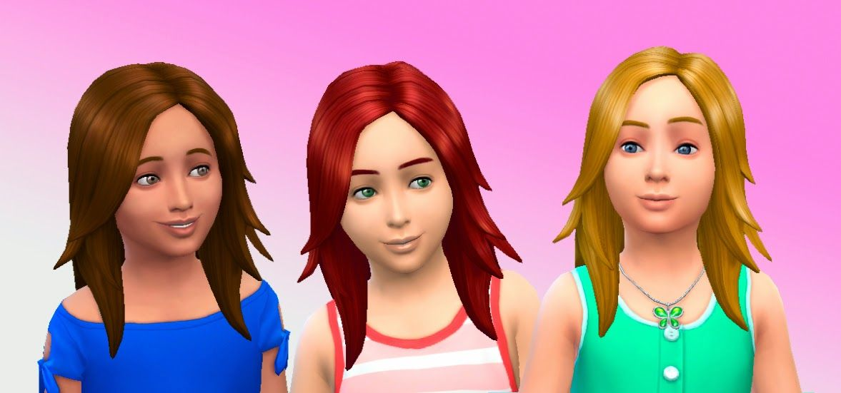 The Sims My Stuff Long Rocker Hair For Girls Hairstyle Base - Hairstyle girl game