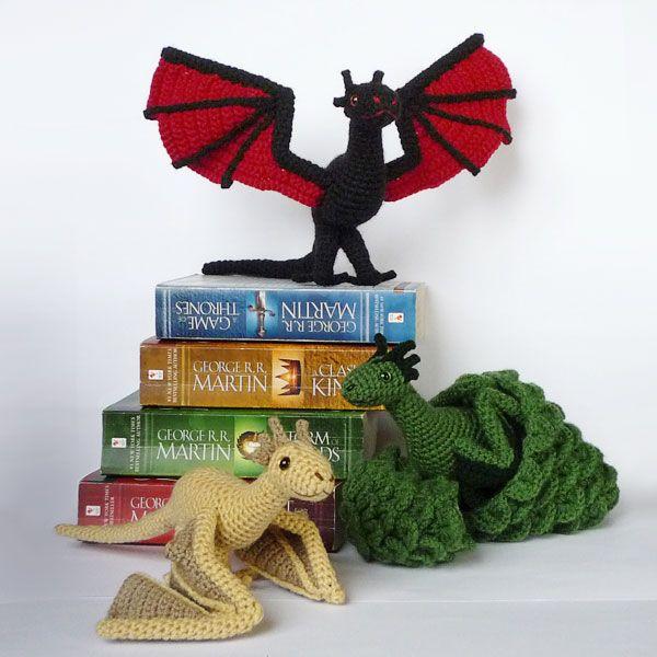 Game Of Thrones Amigurumi Pattern Free : Drogon, Viserion and Rhaegal by LunasCrafts.deviantart.com ...