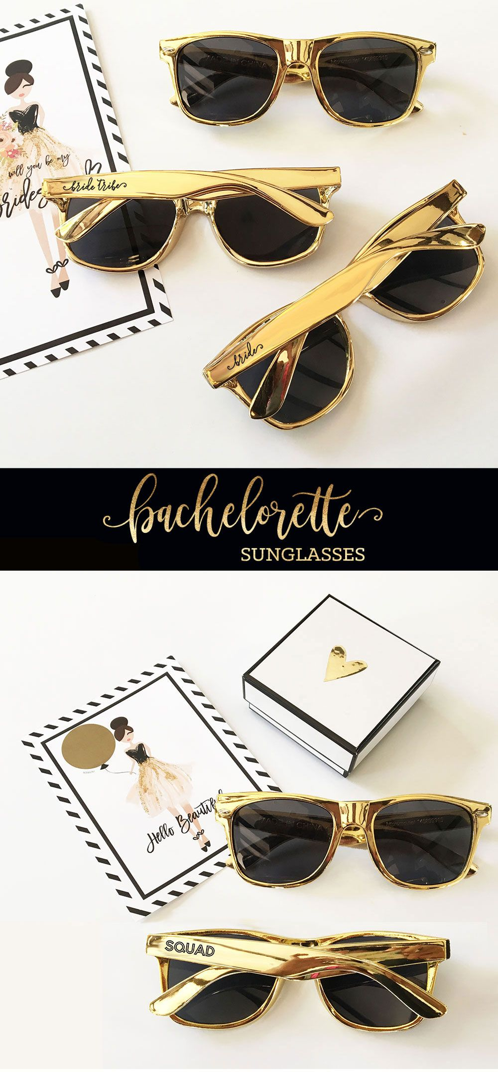 Gold Bachelorette Sunglasses | Hen nights
