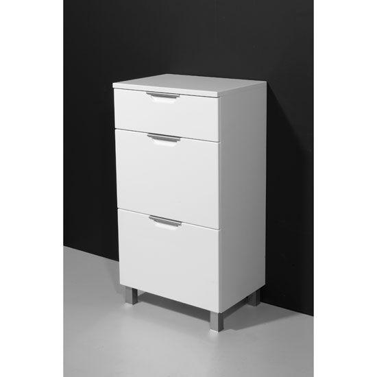 White High Gloss Bathroom Cabinets, Argos Home Gloss Bathroom Floor Cabinet White